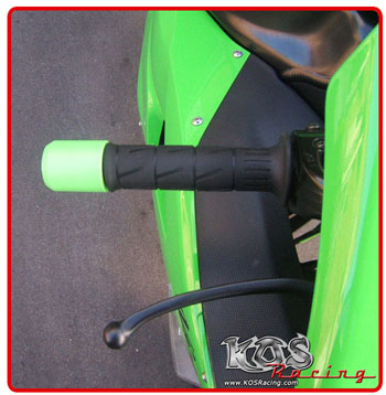 bar end, ninja bar ends, green bar ends, kawasaki bar ends, delrin bar ends