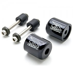 "Black Suzuki ""GSXR"" Engraved Bar Ends Weights Sliders - GSXR 600 750 1000 Hayabusa Bandit SV650 Katana and More! (1989-2013)"