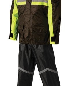 Nelson-Rigg Stormrider Rain Suit (Black/High Visibility Yellow, XXX-Large)