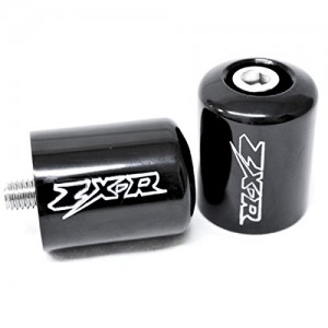 "Black Kawasaki Ninja ""ZX-R"" Engraved Bar Ends Weights Sliders - ZX6R, ZX7R, ZX9R, ZX10R, ZX12R and More! (1987-2012)"